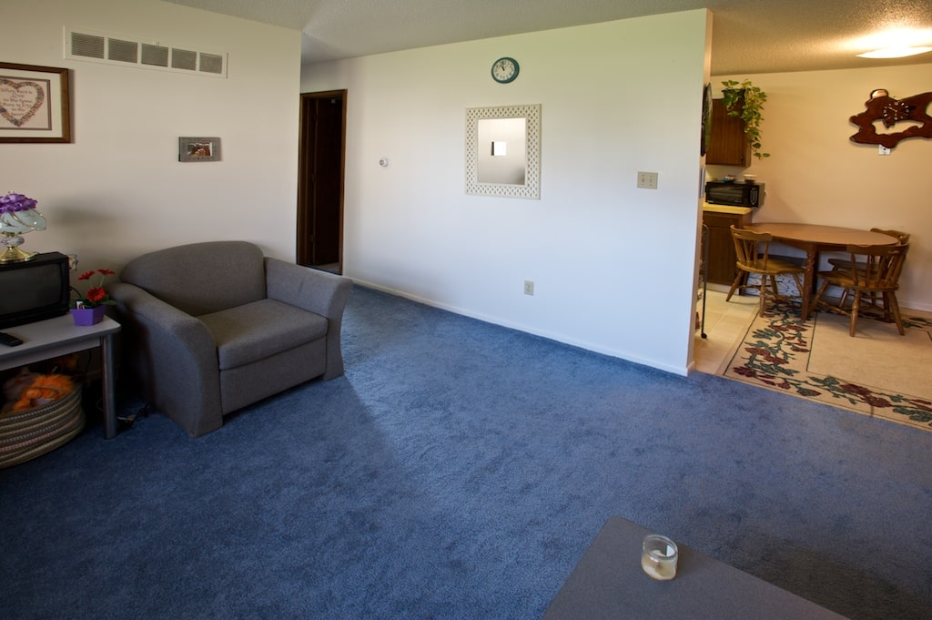 Living area and dining area